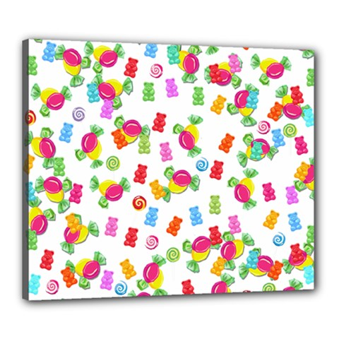 Candy pattern Canvas 24  x 20