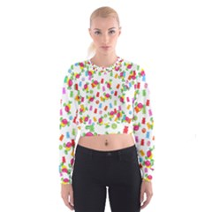 Candy pattern Cropped Sweatshirt
