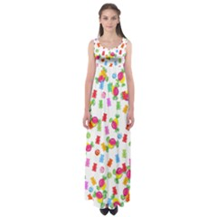 Candy pattern Empire Waist Maxi Dress