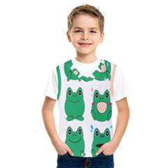 Animals Frog Green Face Mask Smile Cry Cute Kids  Sportswear