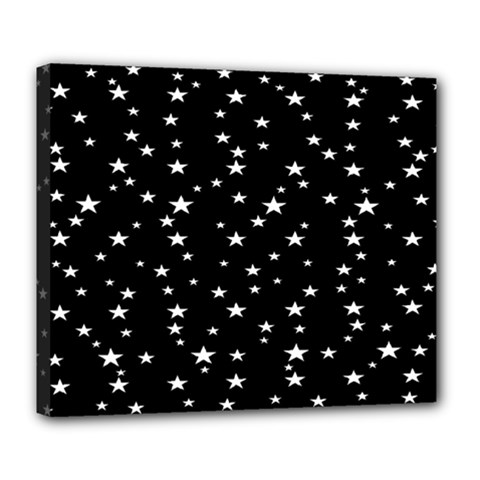 Black Star Space Deluxe Canvas 24  x 20
