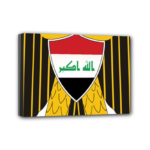 Coat of Arms of Iraq  Mini Canvas 7  x 5