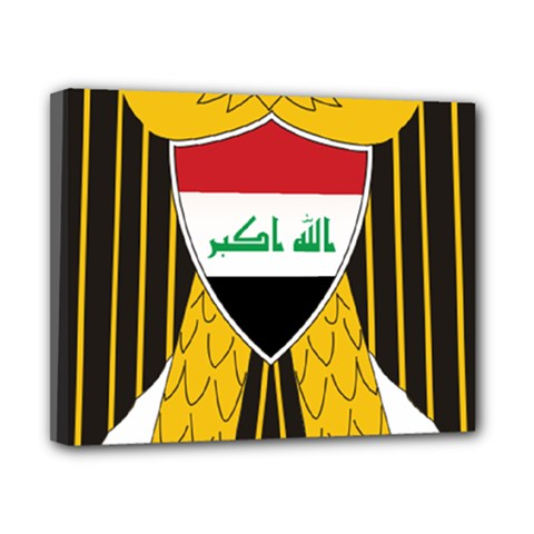 Coat of Arms of Iraq  Canvas 10  x 8