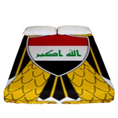 Coat of Arms of Iraq  Fitted Sheet (King Size)