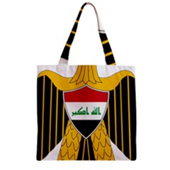 Coat of Arms of Iraq  Zipper Grocery Tote Bag
