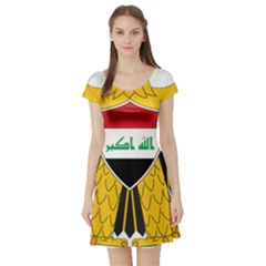 Coat Of Arms Of Iraq  Short Sleeve Skater Dress