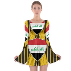 Coat of Arms of Iraq  Long Sleeve Skater Dress