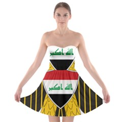 Coat of Arms of Iraq  Strapless Bra Top Dress