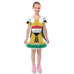 Coat of Arms of Iraq  Kids  Short Sleeve Velvet Dress
