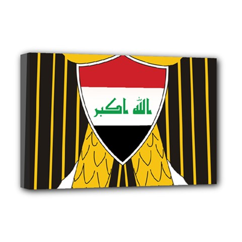 Coat of Arms of Iraq  Deluxe Canvas 18  x 12