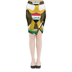Coat of Arms of Iraq  Midi Wrap Pencil Skirt