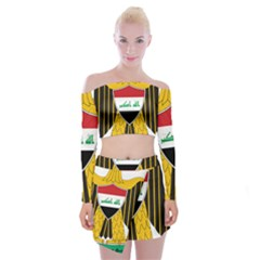 Coat Of Arms Of Iraq  Off Shoulder Top With Skirt Set