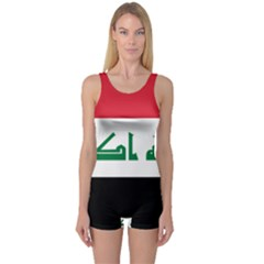 Flag Of Iraq One Piece Boyleg Swimsuit