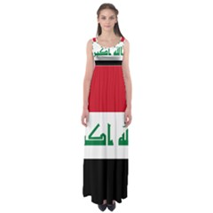 Flag of Iraq Empire Waist Maxi Dress