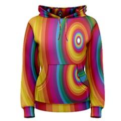 Circle Rainbow Color Hole Rasta Women s Pullover Hoodie