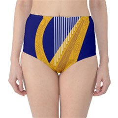 Coat of Arms of Ireland High-Waist Bikini Bottoms