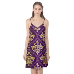 Flower Purplle Gold Camis Nightgown