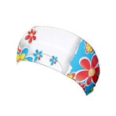 Flower Floral Papper Butterfly Star Sunflower Red Blue Green Leaf Yoga Headband