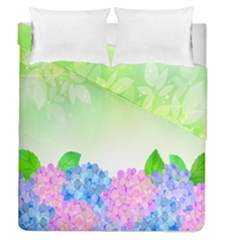 Fruit Flower Leaf Duvet Cover Double Side (queen Size)