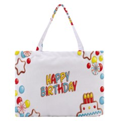 Happy Birthday Medium Zipper Tote Bag