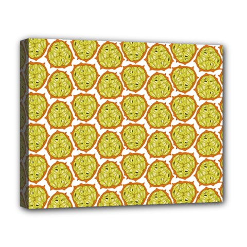 Horned Melon Green Fruit Deluxe Canvas 20  X 16