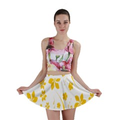 Shamrock Yellow Star Flower Floral Star Mini Skirt
