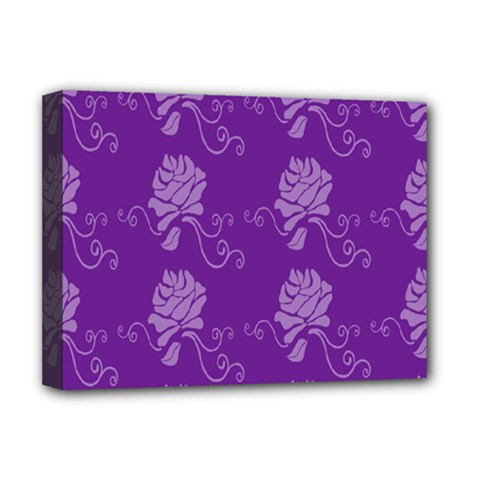Purple Flower Rose Sunflower Deluxe Canvas 16  x 12