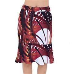 Webbing Red Mermaid Skirt