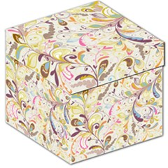 Colorful Seamless Floral Background Storage Stool 12