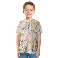 Colorful Seamless Floral Background Kids  Sport Mesh Tee
