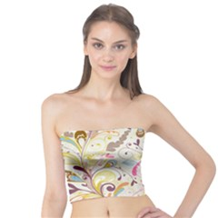 Colorful Seamless Floral Background Tube Top