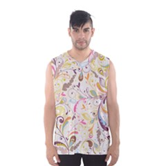 Colorful Seamless Floral Background Men s Basketball Tank Top