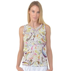 Colorful Seamless Floral Background Women s Basketball Tank Top