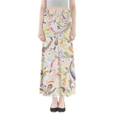 Colorful Seamless Floral Background Maxi Skirts