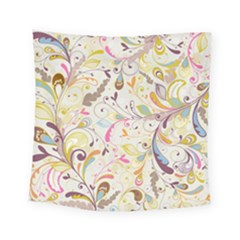 Colorful Seamless Floral Background Square Tapestry (Small)