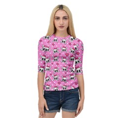 Cute Skulls  Quarter Sleeve Tee