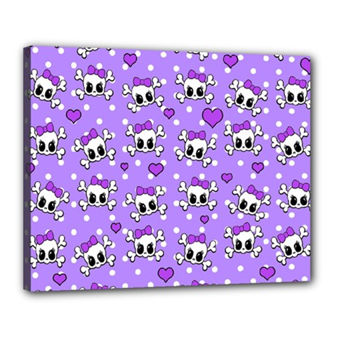 Cute skulls  Canvas 20  x 16