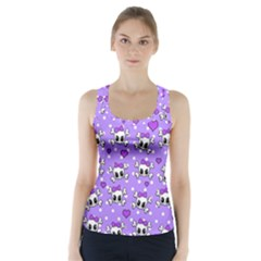 Cute skulls  Racer Back Sports Top