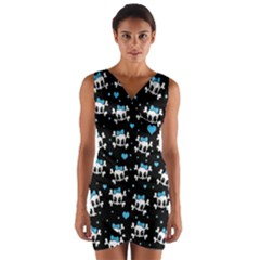 Cute skulls  Wrap Front Bodycon Dress