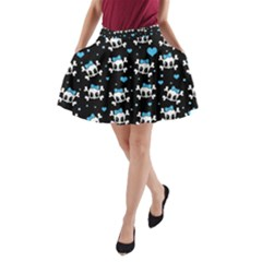 Cute skulls  A-Line Pocket Skirt
