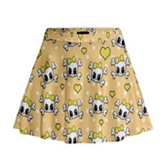 Cute skull Mini Flare Skirt