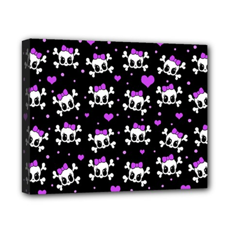 Cute skull Canvas 10  x 8