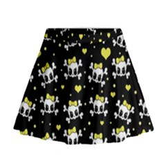 Cute skull Mini Flare Skirt
