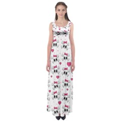 Cute skull Empire Waist Maxi Dress