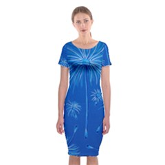 Floating Classic Short Sleeve Midi Dress