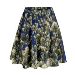 Floral Skies High Waist Skirt