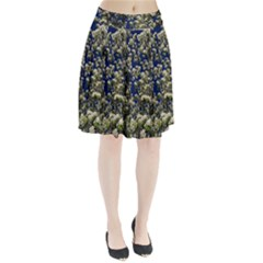Floral Skies Pleated Skirt