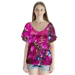 Pretty In Fuchsia 2 Flutter Sleeve Top