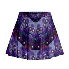 Pearls On Lavender Mini Flare Skirt