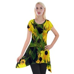 Walking Through Sunshine Short Sleeve Side Drop Tunic